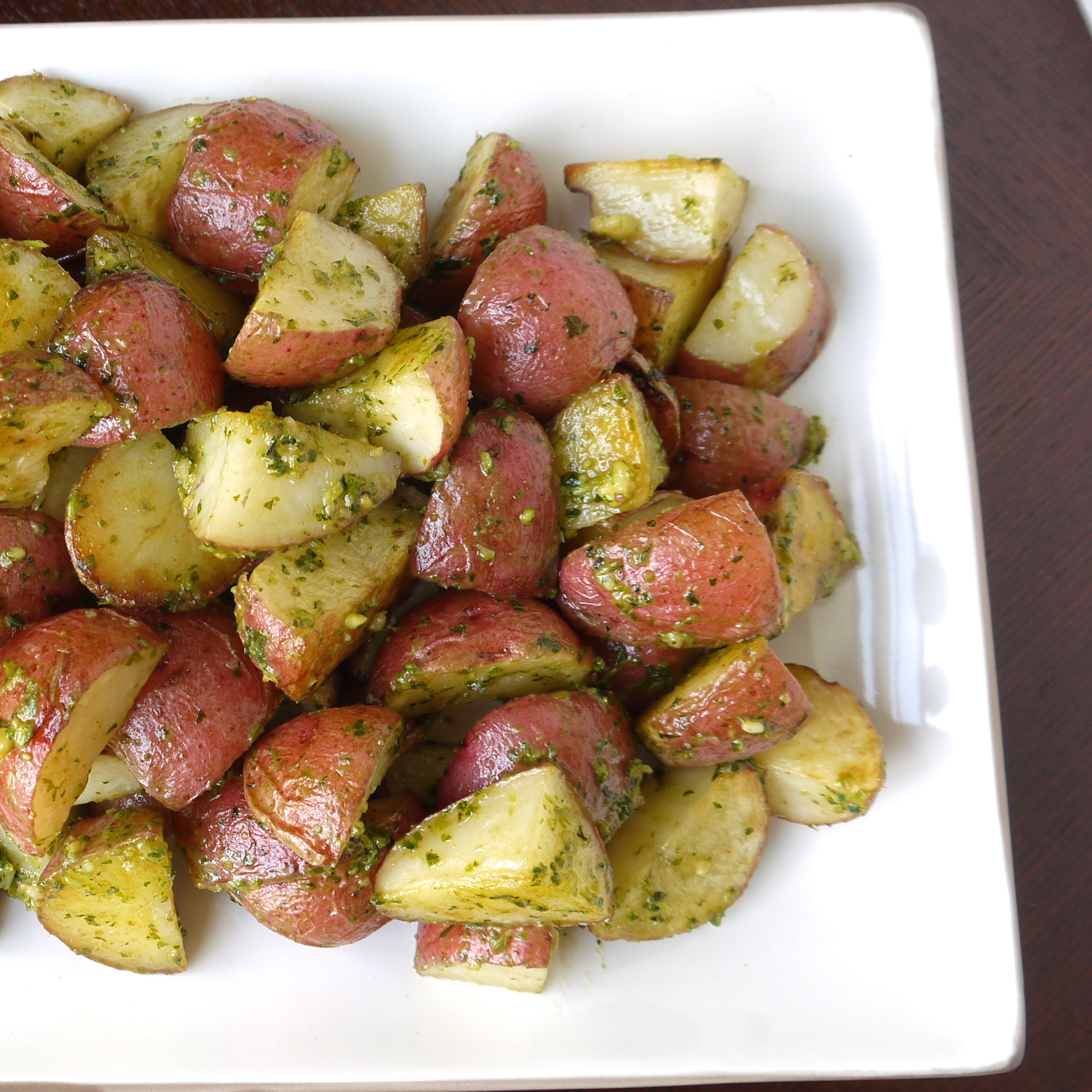 Roasted Potatoes with Kale Pesto